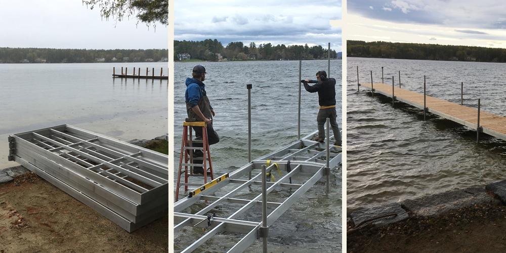 Newfound Lake Dock Installation | Mooring Installation